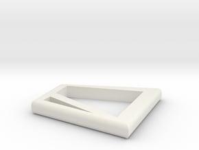 POWER in White Natural Versatile Plastic: 15mm