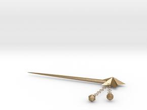 Star Bun in Polished Gold Steel