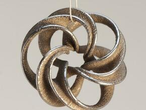 Scherk Minimal Surface Toroid in Natural Silver
