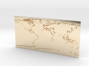 Globe Map in 14K Yellow Gold: Small