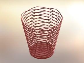Pencil Holder in Red Processed Versatile Plastic