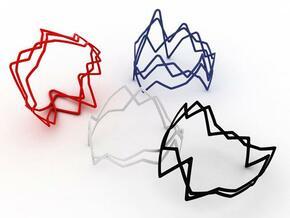 3-stocks-bracelet in White Natural Versatile Plastic