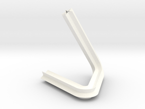 little triangle vase. star-section in White Processed Versatile Plastic