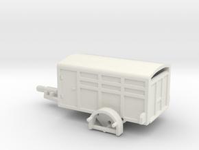 1046 Tiertransporter HO in White Natural Versatile Plastic: 1:87 - HO