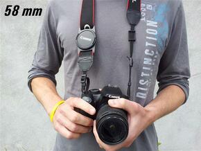 Lens Cap Holder (58mm)  in White Natural Versatile Plastic
