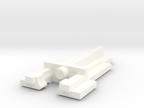 Alps Long Stem (Alps SKCC Tall Cream) keyswitch in White Processed Versatile Plastic