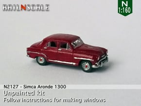 Simca Aronde 1300 (N 1:160) in Smooth Fine Detail Plastic