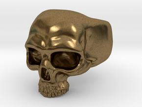 Skull Ring in Natural Bronze