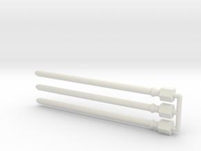 Tour dés proto - deflecteurs01 in White Natural Versatile Plastic