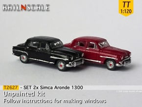 SET 2x Simca Aronde 1300 (TT 1:120) in Smooth Fine Detail Plastic