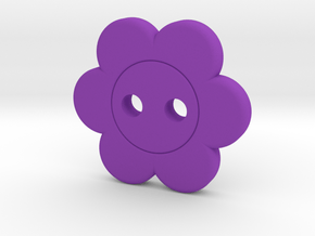 Flower Button in Purple Processed Versatile Plastic