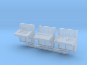 N Scale 3x Control Console in Smooth Fine Detail Plastic