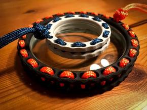 Para Weave Spin Station - Large 100mm in Black Natural Versatile Plastic