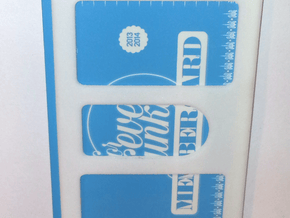 DD - Card Protection in White Natural Versatile Plastic