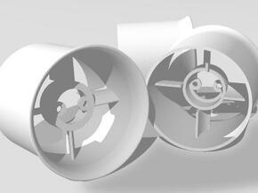 30mm EDF Case for 12mm's in White Natural Versatile Plastic