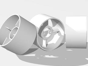 30mm EDF case  - no flange. in White Natural Versatile Plastic