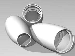 30mm EDF Nacelle in White Natural Versatile Plastic