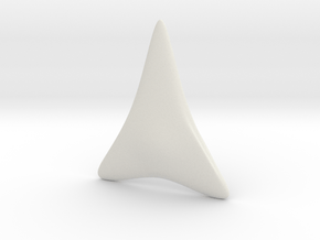 Shark Tooth in White Natural Versatile Plastic