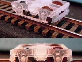 "T07s N wood beam trucks, B&O 60"" 1856, screw in Smooth Fine Detail Plastic"