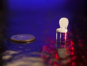1:48 Louis XVI Chair in White Natural Versatile Plastic
