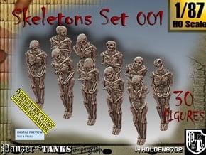 1/87 Skeleton Set001 in Smooth Fine Detail Plastic