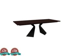 Miniature Prora Dining Table - Bonaldo in White Natural Versatile Plastic: 1:24