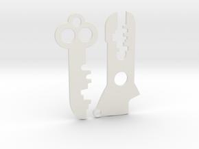 Futurama Planet Express Keys - Blades (2 of 2) in White Natural Versatile Plastic