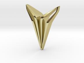 YOUNIQ Edge, Soft Pendant in 18k Gold Plated Brass