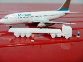 Airport GSE 1:400 Truck Trailer flatbed in White Processed Versatile Plastic