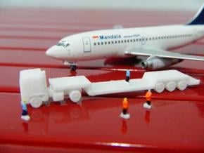 AIrport GSE 1:400 Truck Trailer Lowbed in White Processed Versatile Plastic