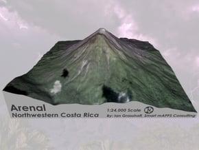"""Arenal Volcano, Costa Rica: 6"""" in Full Color Sandstone"""