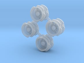2 Hole Bud Dual - 2 axle sets in Smooth Fine Detail Plastic