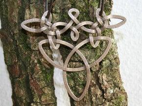 Medallion trefoil in Polished Bronzed Silver Steel