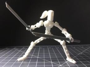 Moli Female DIY Poseable Figure Kit in White Natural Versatile Plastic