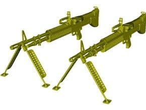 1/18 scale Saco Defense M-60 machineguns x 2 in Smooth Fine Detail Plastic