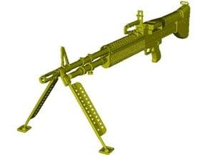 1/18 scale Saco Defense M-60 machinegun x 1 in Smooth Fine Detail Plastic
