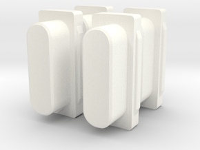 Donkey Seat Mount Guide x 4 in White Processed Versatile Plastic