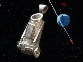 Kepler Telescope Pendant in Polished and Bronzed Black Steel