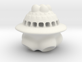 The Trident Space Colony in White Natural Versatile Plastic