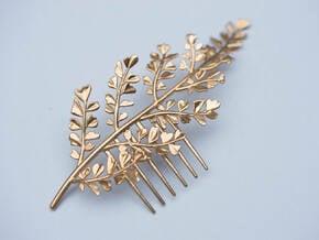 Maidenhair Comb in Natural Brass