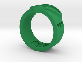 Power FF Ring Sz 7 in Green Processed Versatile Plastic: 7 / 54