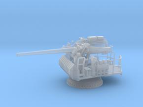 1/96 USN Single 5 inch (127 mm) 38 caliber gun in Smooth Fine Detail Plastic