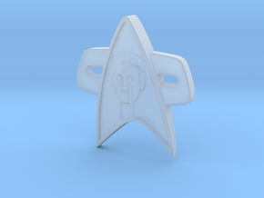 Phaser Eyes Corps Comm Badge in Smooth Fine Detail Plastic