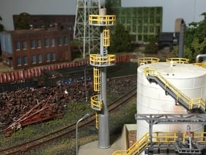 N Scale Flare Stack in Smooth Fine Detail Plastic