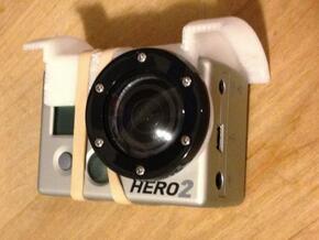 GoPro adjustable mount for arDrone 1  in White Natural Versatile Plastic