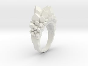 Crystal Ring size 6,5 in White Natural Versatile Plastic