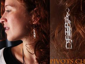 DFTBA Earrings in Polished Silver