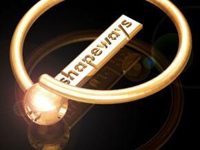 Magic Keyring with Shapeways Logo in Polished Gold Steel