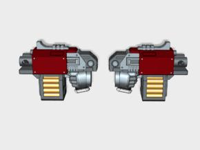 10x Blank : Blitz Pistols (5 L&R) in Smooth Fine Detail Plastic