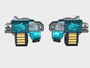 10x Makodons: Blitz Pistol (5 L&R) in Smooth Fine Detail Plastic
